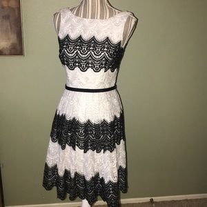 WHBM Black & White dress